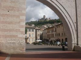 Vista della Rocca da Santa Chiara